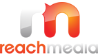 reach media white logo